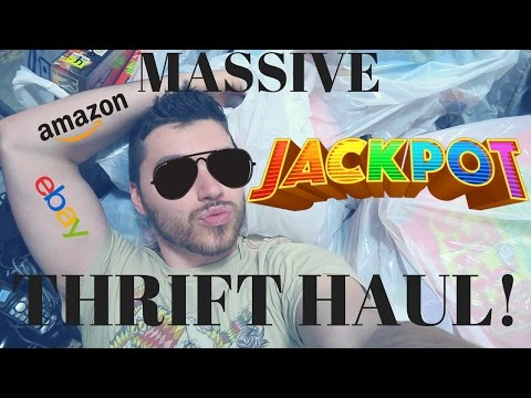 Massive Thirfting Haul from 2 Thrift Stores | Selling on Ebay and Amazon