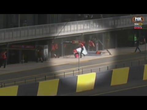 2015 V8 Supercars - Sydney Motorsport Park - James Courtney Freak Pit Lane Accident