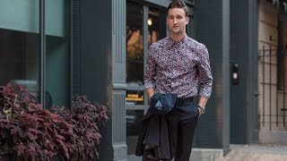 Technically Floral || Styling a Navy Perry Ellis Tech Suit