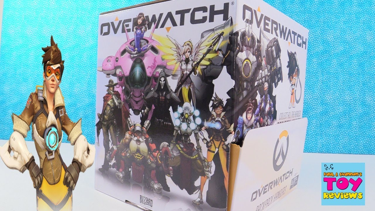 Overwatch Backpack Hangers Series 1 Blind Bag Clips Full Set Unboxing |  PSToyReviews