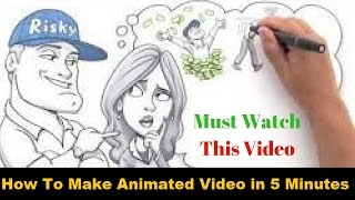 learn how to make pencil animated video in 5 minutes in urdu/hindi 2017