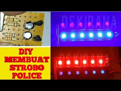 Membuat Strobo Police Modal 10ribu
