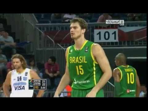 Argentina vs Brazil 2010 FIBA Basketball World Championship Round of 16 FULL GAME English