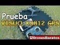 Drone VISUO XS812 GPS Tiempo de Vuelo y prueba de Vuelo Programado