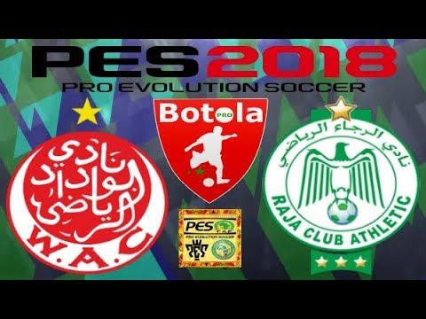 PS4 PES 2018 Gameplay Wydad Athletic Club vs Raja Casablanca [HD]