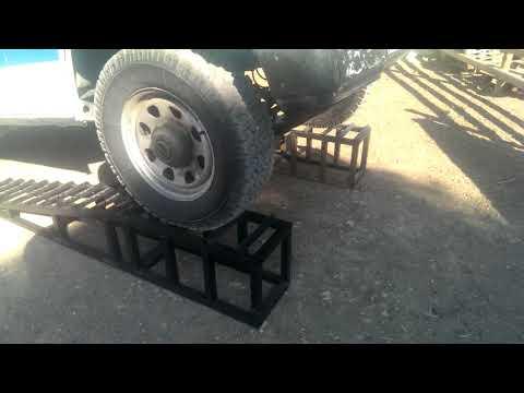 Homemade car ramps