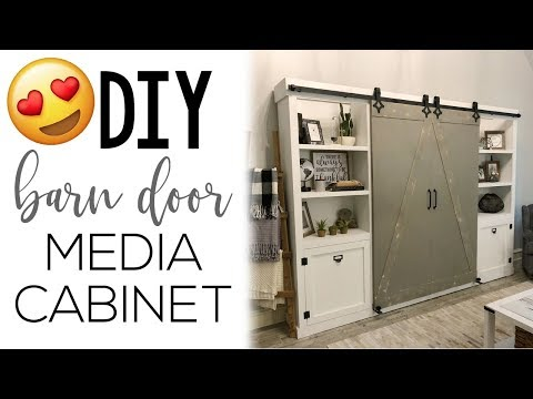 DIY Sliding Barn Door Media Console
