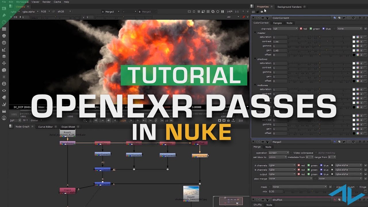 How to Use Multi-Channel OpenEXR Passes | Nuke Tutorial