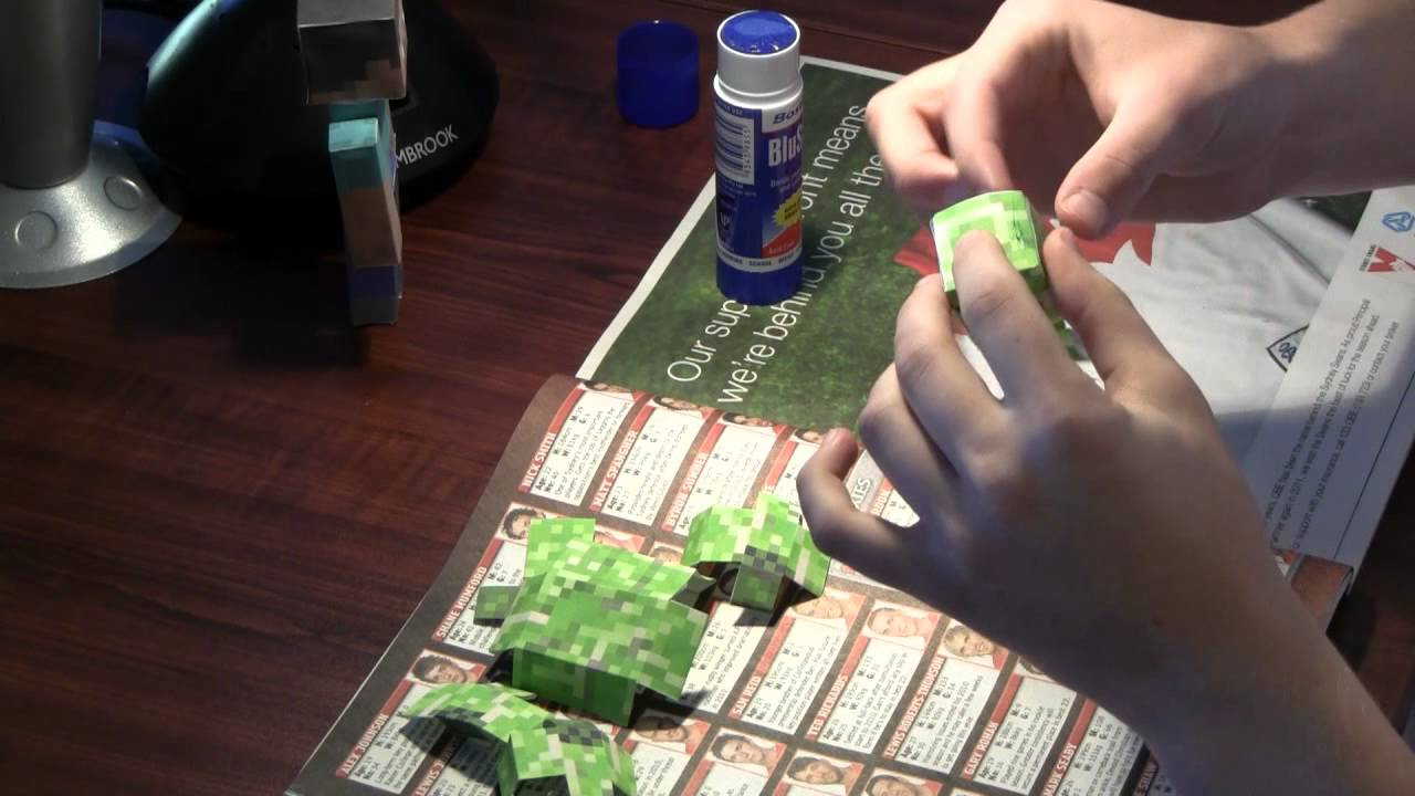 Mutant Minecraft Papercraft Dragon