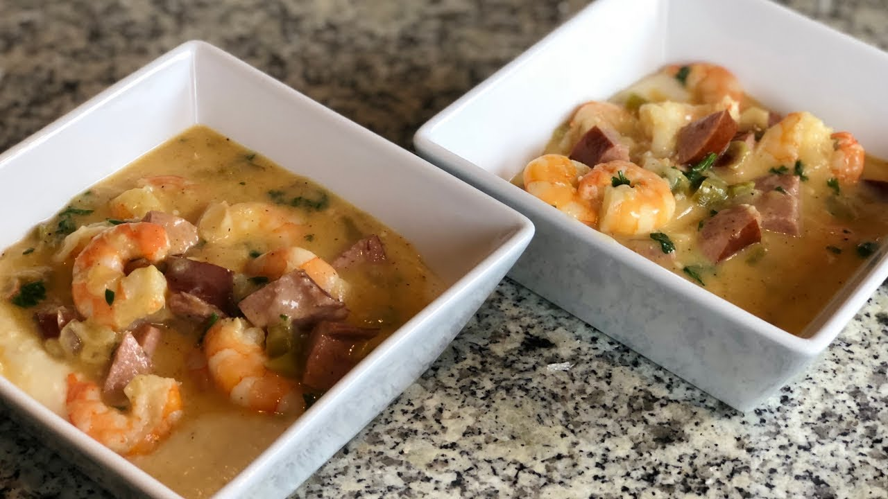 Smothered Shrimp Grits Andouille Sausage Pinterest Recipes Tested Recipes Please