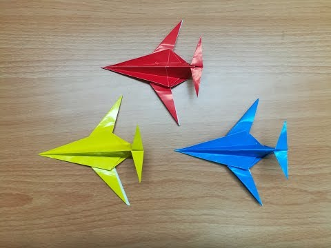 How to make an origami airplane (fighter jet plane): page 1 | 360x480