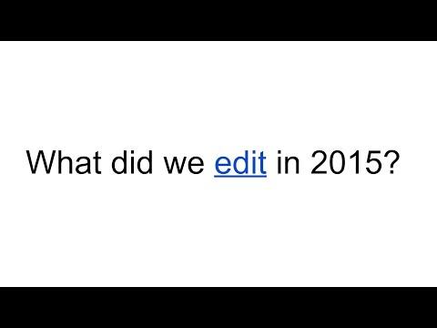 Wikipedia: #Edit2015