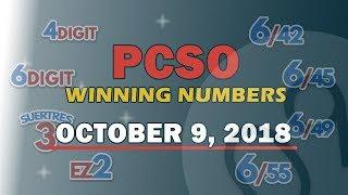 P1 Billion Jackpot Prize Ultra Lotto 6/58, EZ2, Suertres, 6Digit, 6/42, 6/49 Draw | October 9, 2018