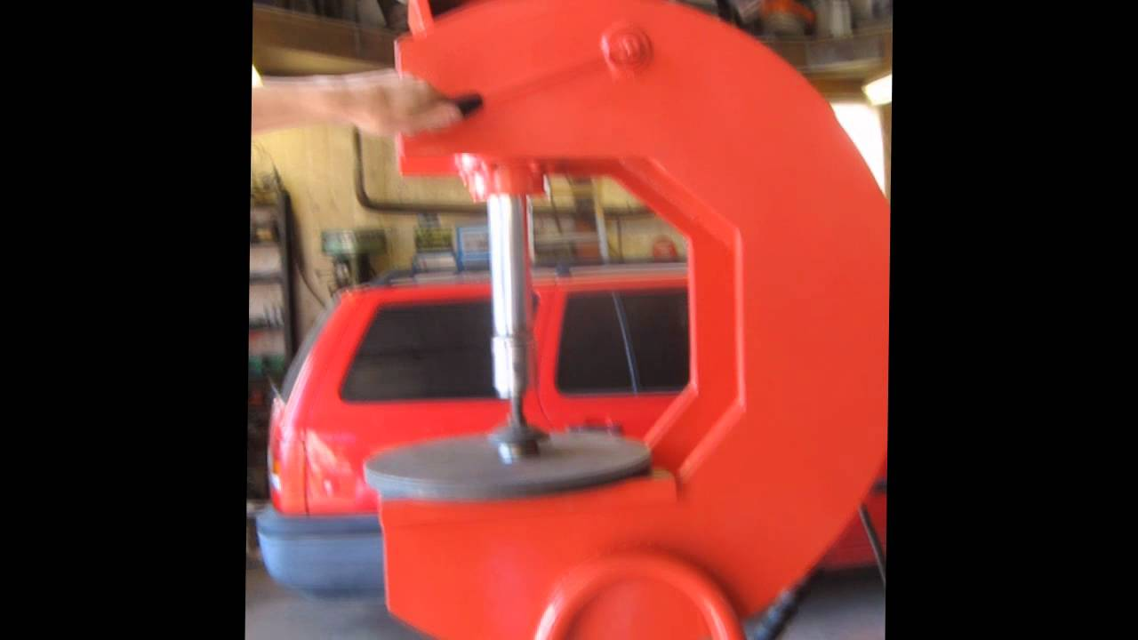 Homemade Hydraulic C Frame Press Youtube