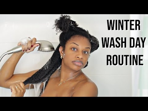 WINTER WASH DAY ROUTINE | NATURAL HAIR