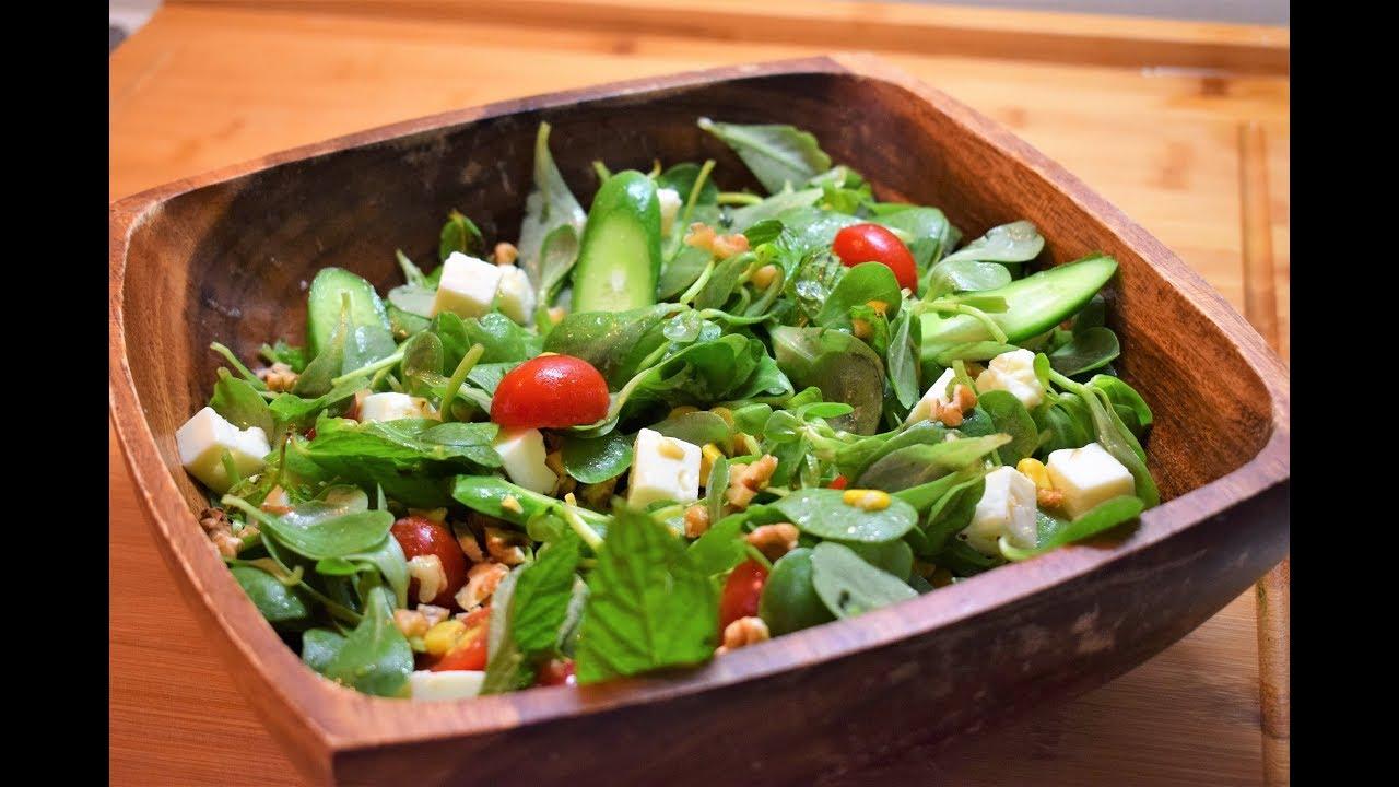 Keçi peynirli Cevizli Semizotu Salatası Nasıl Yapılır ?