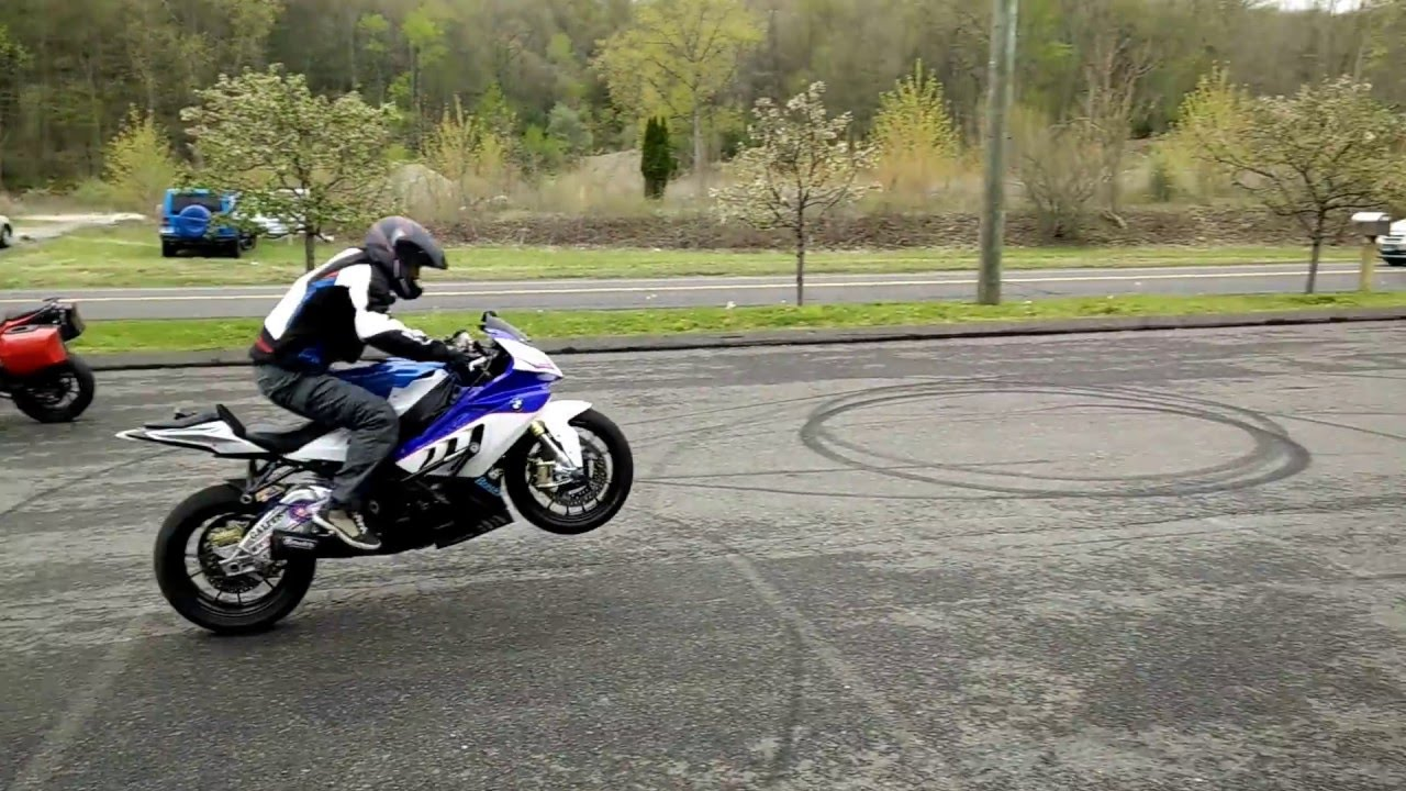 BWM S1000RR stunt demo part 1  Chris Teach McNeil  Max BMW in