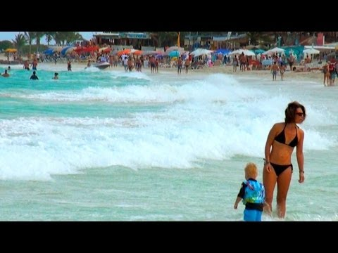 St Maarten, SXM - Island Tour - Part 1 - Orient Beach, Phili