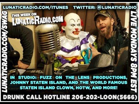 Staten Island Clown in the LunaticRadio studio