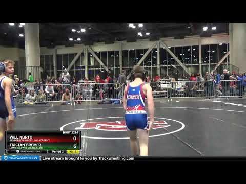 Middle School 87 Will Korth Sanderson Wrestling Academy Vs Tristan Bremer Lewiston Wrestling Club