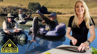 Trout fishing Africa's best dams and drone fail [CATCH COOK]