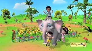 Hathi Raja Inka Naam | Hathi raja kahan chale | हाथी राजा इनका नाम | Hindi rhymes | Kiddiestv hindi