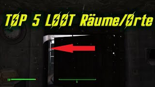 Fallout 4 - TOP 5 LOOT Räume/Orte   TOP 5 LOOT Rooms/Locations!