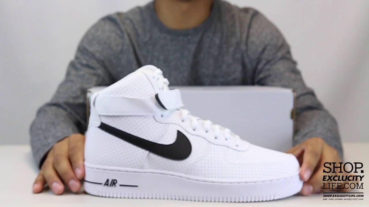 Nike Air Force 1 High White Black Shoes