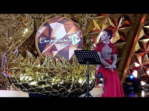 si imut Rossa,, Nyanyi Lagu Mandarin (Ni Bu Zhi Dao De Zhi) At Emporium Pluit Mall 2018
