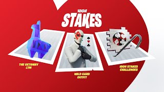 FORTNITE NEW HIGH STAKES ÉVÉNEMENT! NOUVELLE PEAU WILDCARD GRATUITE! FORTNITE BATTLE ROYALE DEV UPDATE FIX
