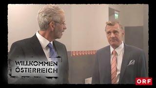 In der Wäscherei: Hofer und Van der Bellen | Willkommen Österreich