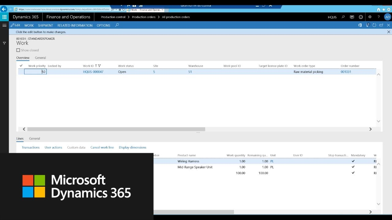 Enhancements to the production order release process in Dynamics 365 for  Finance and Operations