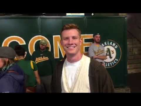"""Han Solo and Princess Leia"" At Oakland A's Star Wars Night"