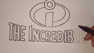HOW TO DRAW THE INCREDIBLES LOGO | THE INCREDIBLES 2 | DRAWING FOR KIDS