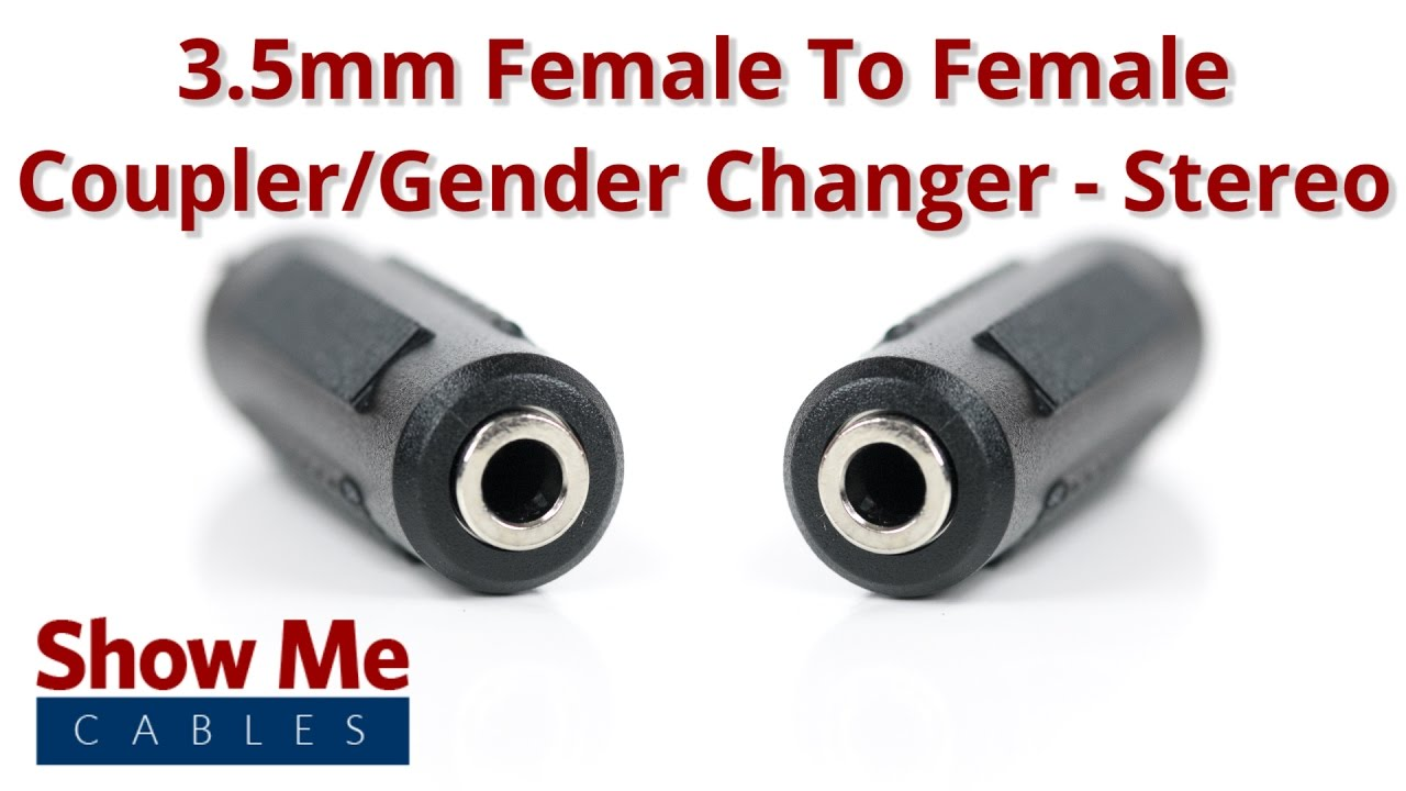 3 5mm Female To 3 5mm Female Adapter Stereo 956 Youtube