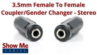 3.5mm Female To 3.5mm Female Adapter - Stereo #956