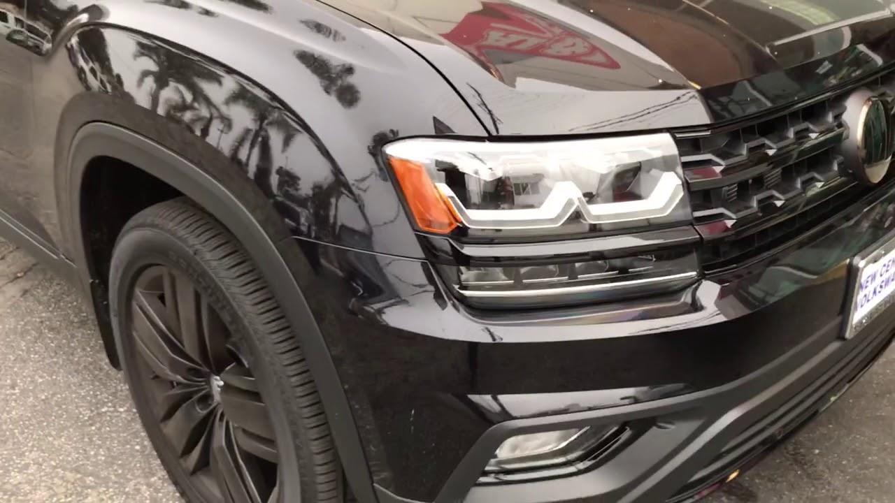 2018 Volkswagen Atlas Blacked out chrome delete Los Angeles Al & Ed's Autosound - YouTube