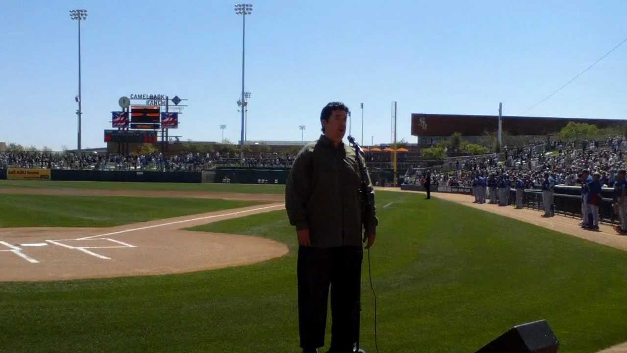 d03986f32ee Tim Juillet sings the National Anthem at Camelback Ranch Baseball Stadium  March 16th