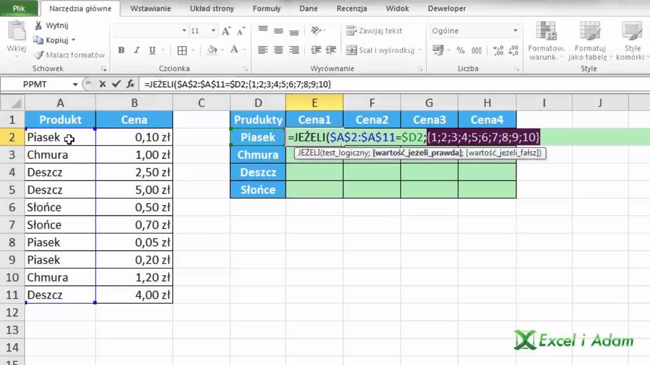 Excel Zwracanie Kolejnych Wartości Dla Tego Samego Kryterium Porada 164