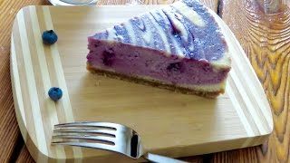 How To Make Wild Blueberry Swirl Cheesecake Recipe