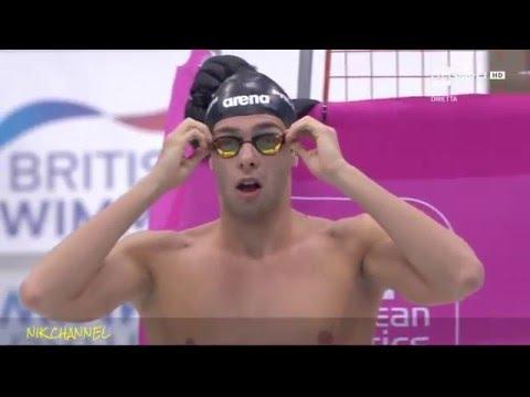 Paltrinieri/Detti - ORO e ARGENTO 1500 s.l. -  Europei di nuoto Londra 2016