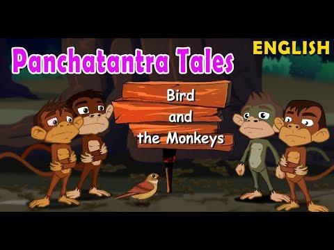 Bird and the Monkeys | Panchatantra English Moral Stories For Kids | Maha Cartoon TV English