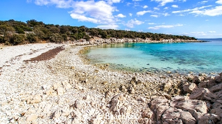 beach Jadrovnica, Šimuni, island Pag, Croatia