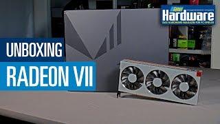 AMD Radeon VII (Seven)   Unboxing vor dem Review   Vega 20   16 GB HBM2   7nm