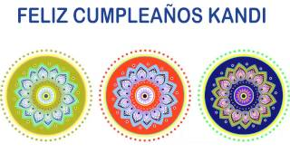 Kandi   Indian Designs - Happy Birthday