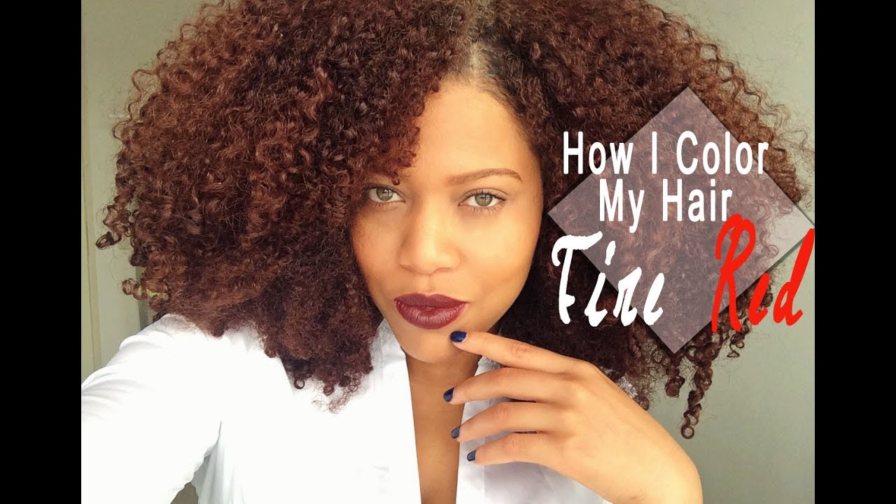 How I Color My Natural Hair At Home Naturtint Fire Red Hair Dye