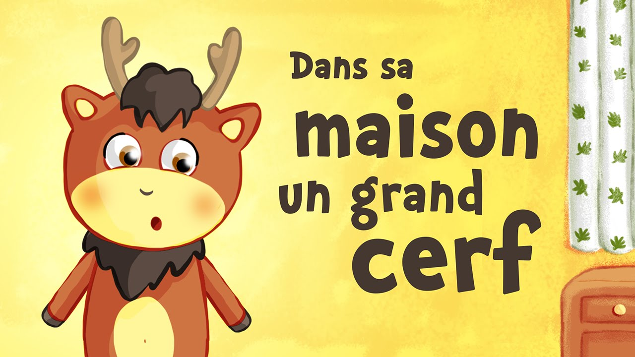 Dans sa maison un grand cerf comptine avec paroles youtube for Dans la foret un grand cerf regardait par la fenetre