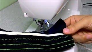 Tipos de pontos para costurar tecidos flexíveis e malhas com qualidade