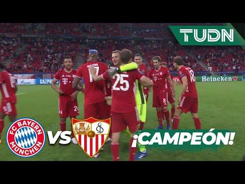 ¡Silbatazo final! Bayern es CAMPEÓN | Bayern 2-1 Sevilla | Final Supercopa Europa 2020 | TUDN