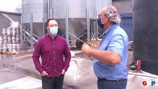 Sen. Victory visits New Holland Brewing